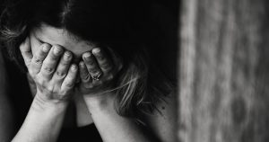 woman crying sad